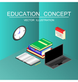 Isometric education and graduation concept 3d back vector image vector image
