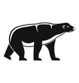 male polar bear icon simple style vector image vector image