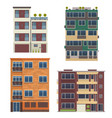 modern living houses and apartment buildings vector image vector image