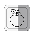 monochrome square contour with middle shadow vector image vector image