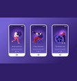 movie making process mobile app page onboard vector image vector image