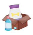 package food and veterinary medicine in box vector image vector image