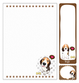 paper note Beagle vector image vector image