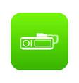 radio taxi icon digital green vector image