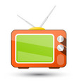 retro tv television icon isolated on white vector image vector image