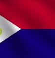 Saint Martin flag vector image vector image