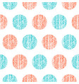 seamless pattern polka dot vector image