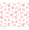 seamless simple pattern with red easter egg vector image