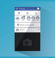 social network smartphone interface vector image vector image