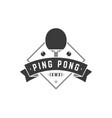 sports ping pong logo black racket for vector image