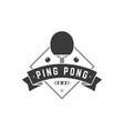 sports ping pong logo black racket vector image