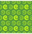 Swirl green seamless pattern vector image vector image
