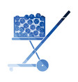 tennis cart ball icon vector image vector image