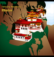 Tigers Nest Monastery vector image vector image