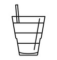 tonic cocktail icon outline style vector image vector image