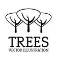 Tree design vector image vector image