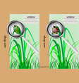 two covers for notebooks with a beetle vector image vector image