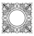 Vintage imperial baroque mirror round frame