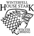 winterfell house stark vector image vector image