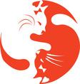 Yin Yang Cat vector image vector image