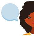 young woman talking vector image