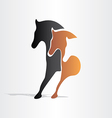 horses running abstract design vector image