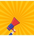 Coming soon banner Announcement megaphone vector image
