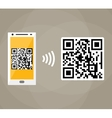 QR code scanning by mobile phone vector image