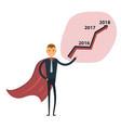 businessman and stock market arrow vector image