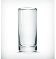 Empty glass with transparency vector image
