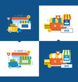 online shop payment and delivery secure vector image