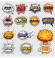 Set of comics speech and explosion bubbles vector image