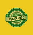 vegan food sign vector image