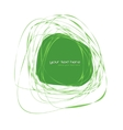 Abstract green frame vector image vector image
