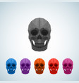 abstract polygonal colorful skull icons vector image