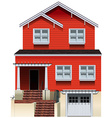 An orange old building vector image vector image