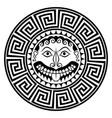 ancient greece shield with gorgon medusa head vector image vector image