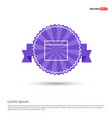 application window interface icon - purple ribbon vector image vector image