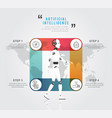 artificial intelligence robot walking design vector image vector image