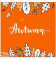 autumn maple leaf orange background image vector image vector image