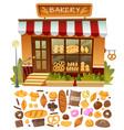 bakery shop facade vector image