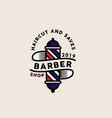 barber logo template vector image