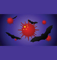 bats are thought to be cause corona virus vector image vector image