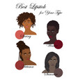 best lipstick colors vector image vector image