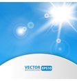 Blue abstract background with sunburst flare vector image vector image