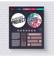 Business project infographic design template vector image vector image