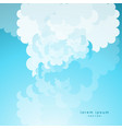 cartoon cloud on blue sky background vector image