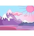 cartoon nature landscape vector image vector image