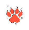 cartoon paw print icon in comic style dog cat vector image vector image