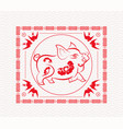 chinese new year 2019 graphic design vector image vector image